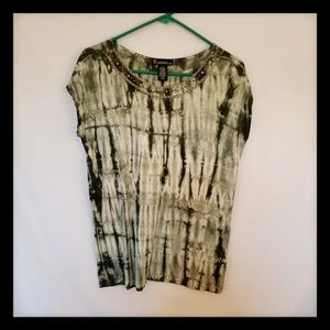 Signature Studio Green Tie Dye SS Blouse